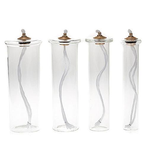 Cartouche en verre pour bougies à cire liquide 1