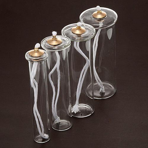 Cartouche en verre pour bougies à cire liquide 2