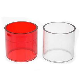 Lâmpadas e Lamparinas: Copo sobressalente plástico duas cores