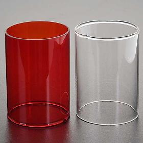 Repuesto vidrio lámpara Santísimo dos colores s2