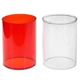 Lâmpadas e Lamparinas: Copo sobressalente vidro duas cores