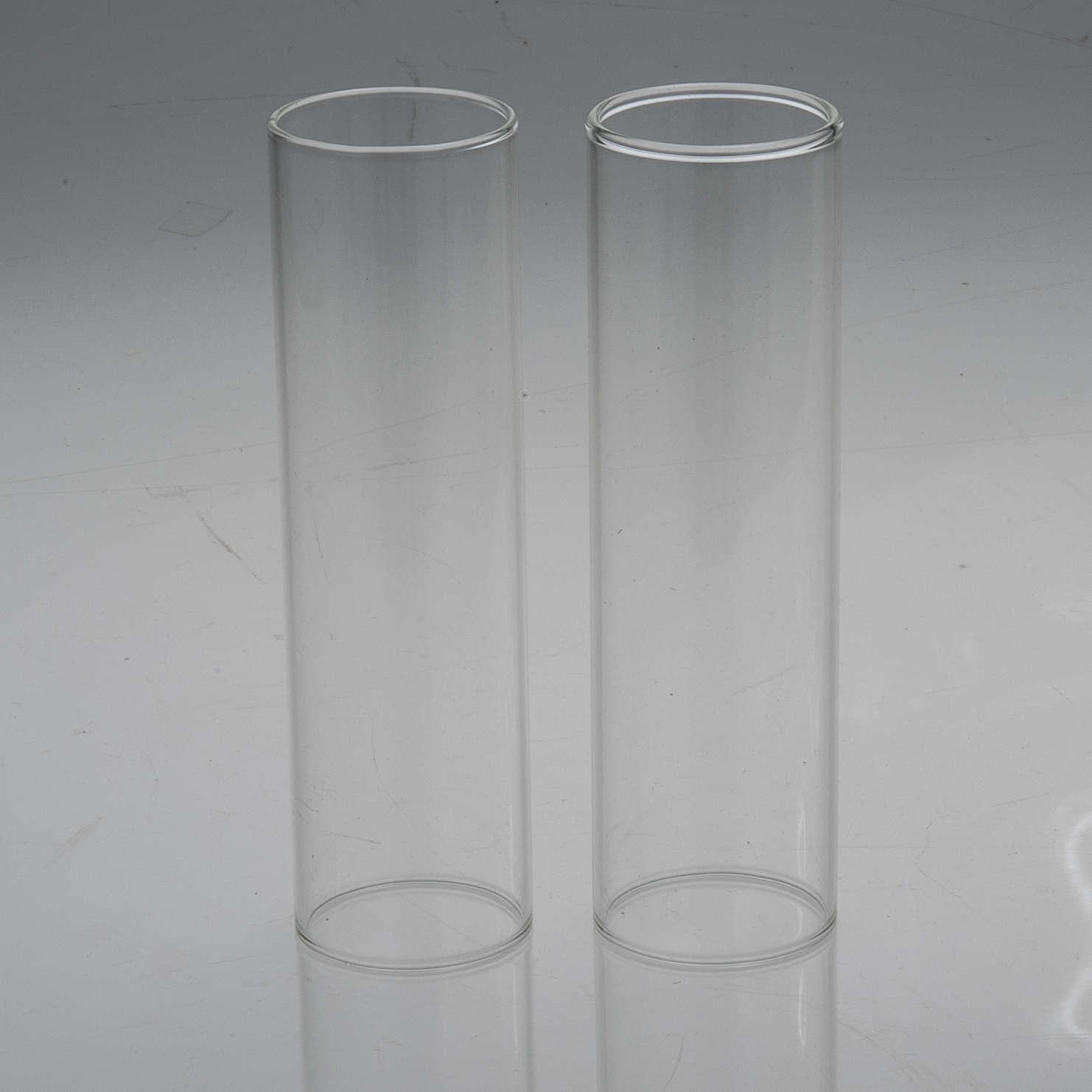 Pareja de cilindros de vidrio diámetro de 3,5 3