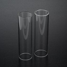 Pareja de cilindros de vidrio diámetro de 3,5 s2