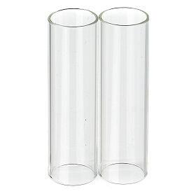 Pareja de cilindros de vidrio diámetro de 3,5 s1