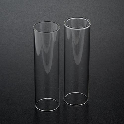 Pareja de cilindros de vidrio diámetro de 3,5 2