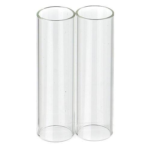 Pareja de cilindros de vidrio diámetro de 3,5 1