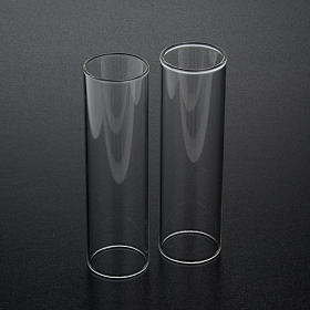 Wind-proof glass for candles, 2 pieces set. 3.5 cm diameter s2