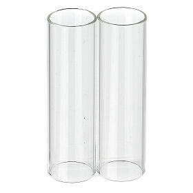 Wind-proof glass for candles, 2 pieces set. 3.5 cm diameter s1
