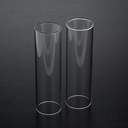 Wind-proof glass for candles, 2 pieces set. 3.5 cm diameter 2