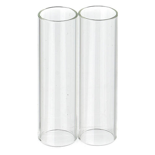 Wind-proof glass for candles, 2 pieces set. 3.5 cm diameter 1