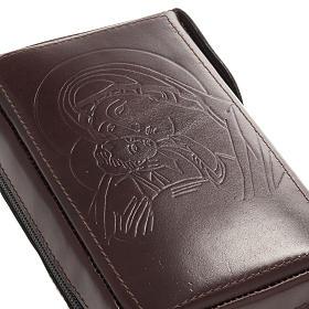 Capa breviário vol. único couro com fecho de correr s2