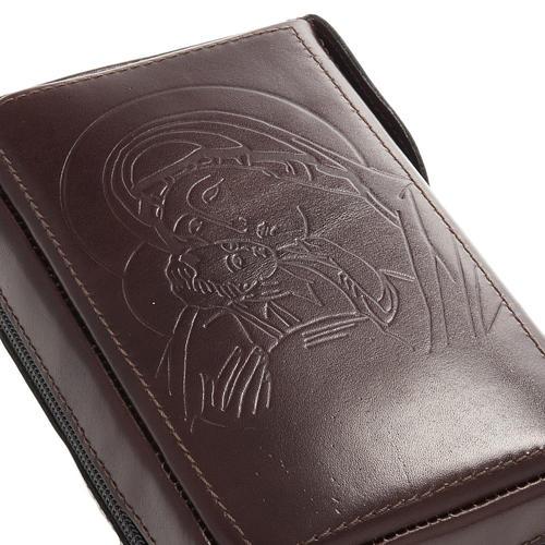 Capa breviário vol. único couro com fecho de correr 2