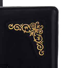 Cover for Roman missal in black leather with golden printing s5