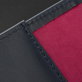 Cover for Roman missal in black leather with golden printing s9