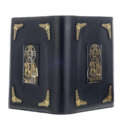 Cover for Roman missal in black leather with golden printing 4