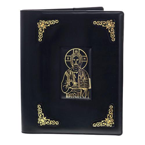 Copertina per messale romano nero stampa oro 2