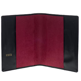 Cover for Roman missal in black leather with golden printing s8