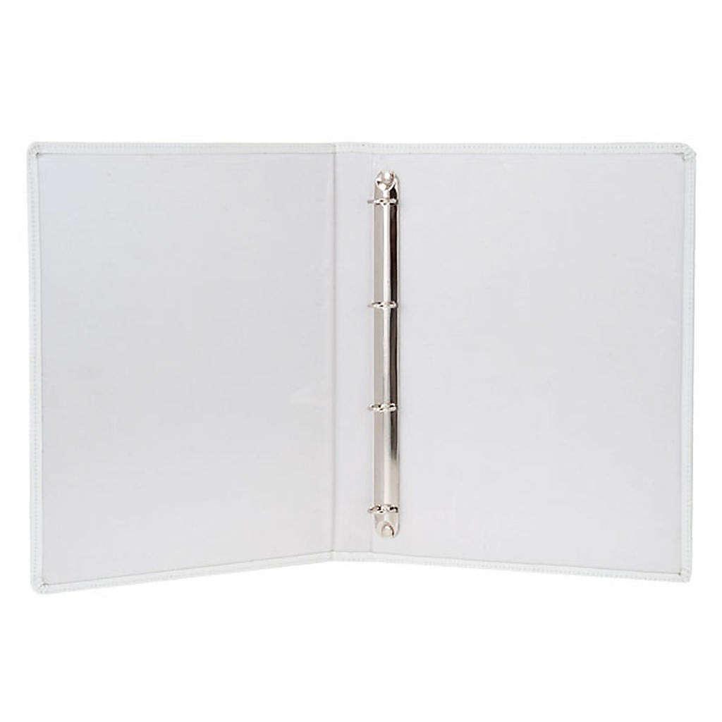 Capa livro rituais litúrgicos em couro branco 4