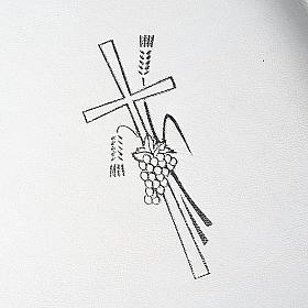 Capa livro rituais litúrgicos em couro branco s3