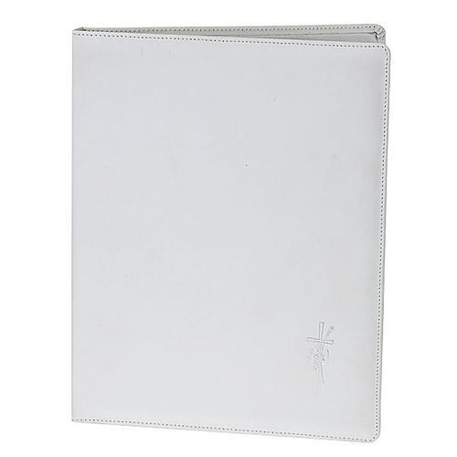Capa livro rituais litúrgicos em couro branco 1