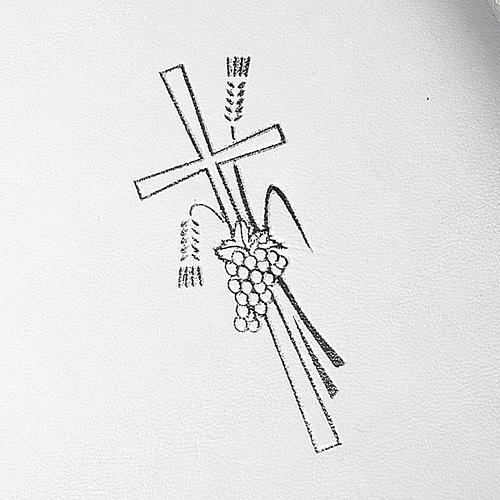 Capa livro rituais litúrgicos em couro branco 3