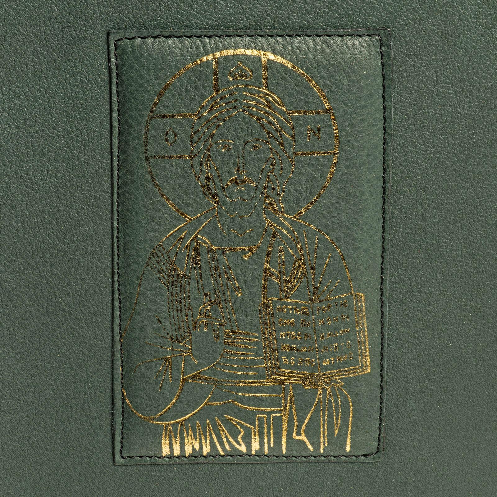 Funda para Misal Romano verde estampa dorado 4