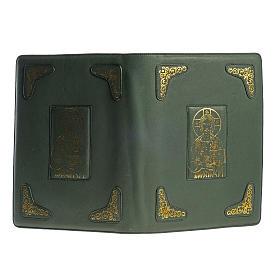 Funda para Misal Romano verde estampa dorado s2