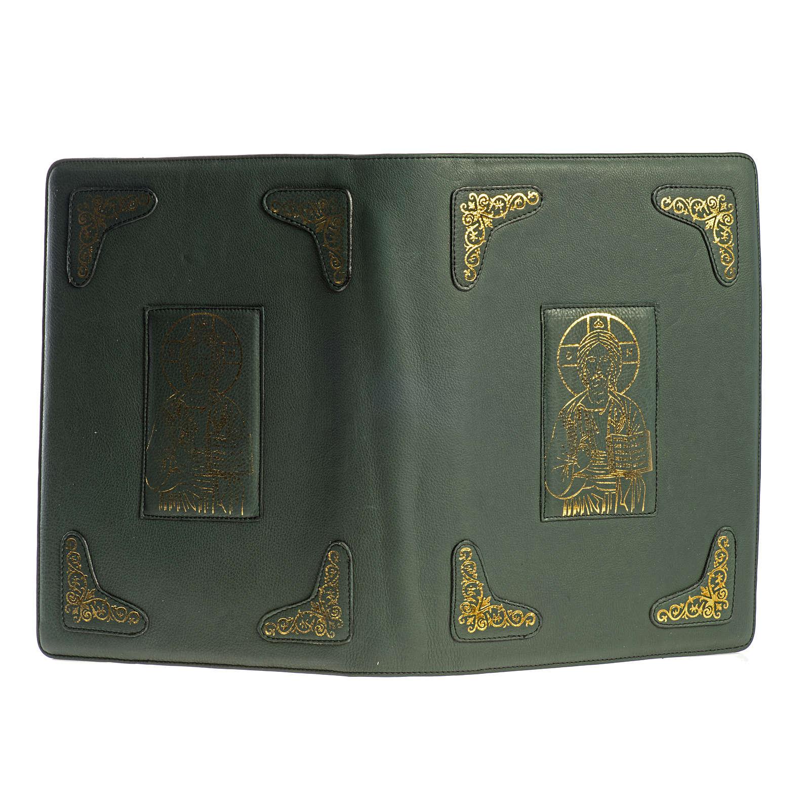 Capa para Missal Romano verde impressão ouro 4