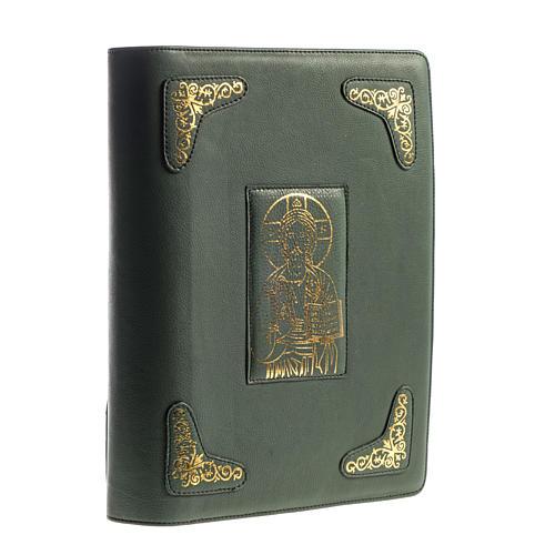 Capa para Missal Romano verde impressão ouro 1