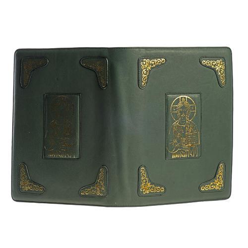 Capa para Missal Romano verde impressão ouro 2