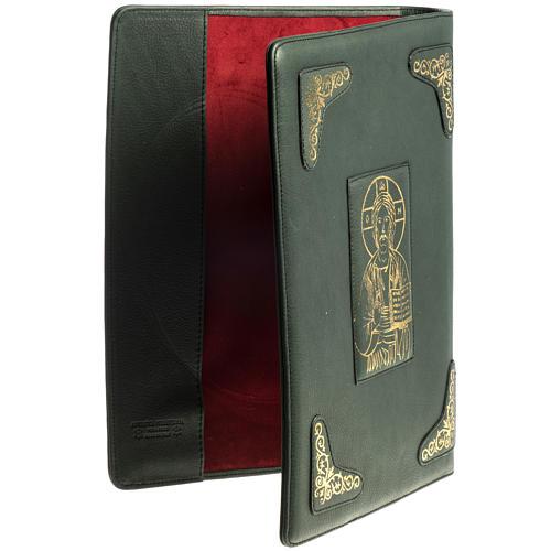 Capa para Missal Romano verde impressão ouro 3