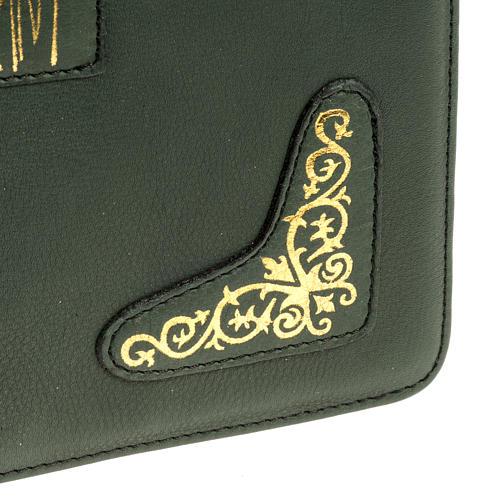 Capa para Missal Romano verde impressão ouro 5