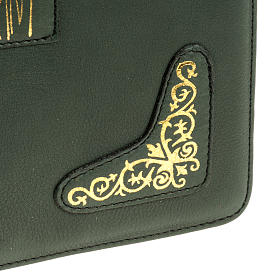 Cover for Roman Missal, green leather s5