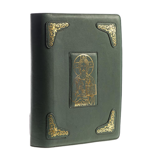 Cover for Roman Missal, green leather 1