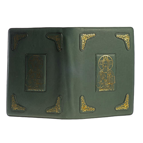 Cover for Roman Missal, green leather 2