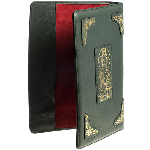 Cover for Roman Missal, green leather 3