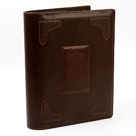 Dark Brown Lectionary Slipcase with Image of Christ s1