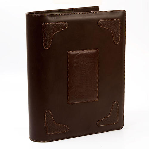 Dark Brown Lectionary Slipcase with Image of Christ 1