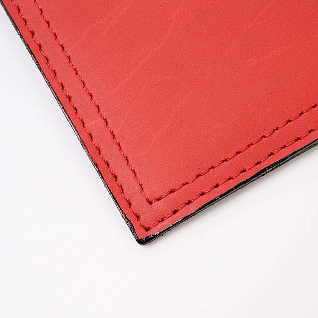 Couverture lectionnaire, cuir, alpha, oméga 4
