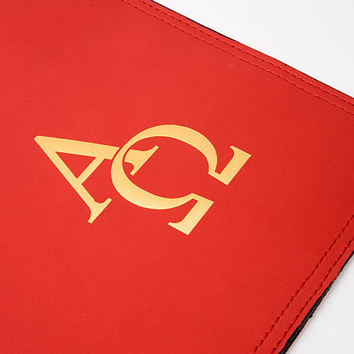 Leather Lectionary slipcase with alpha and omega 5