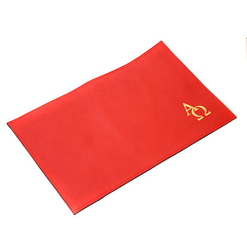 Leather Lectionary slipcase with alpha and omega 6