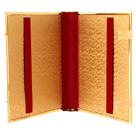 Golden brass lectionary/evangeliary book cover s5