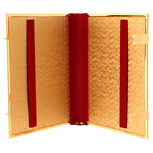 Golden brass lectionary/evangeliary book cover 5