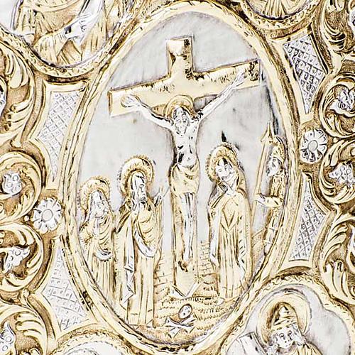 Copri lezionario evangelario ottone dorato 4