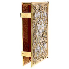 Golden brass Lectionary/Evangeliary Cover with Crucifixion of Jesus s4