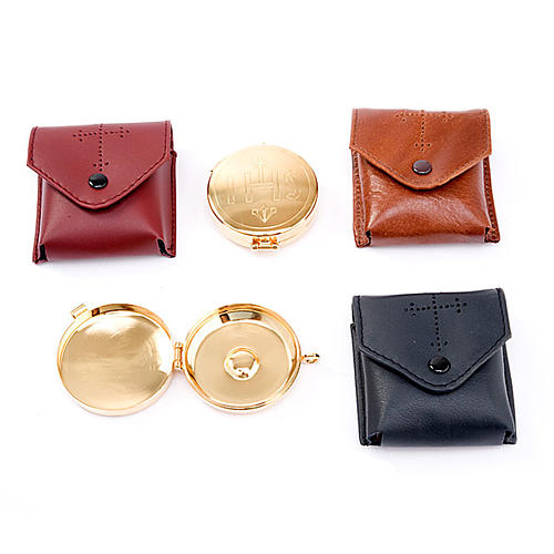 Pyx holder in real leather (Pyx included) 3