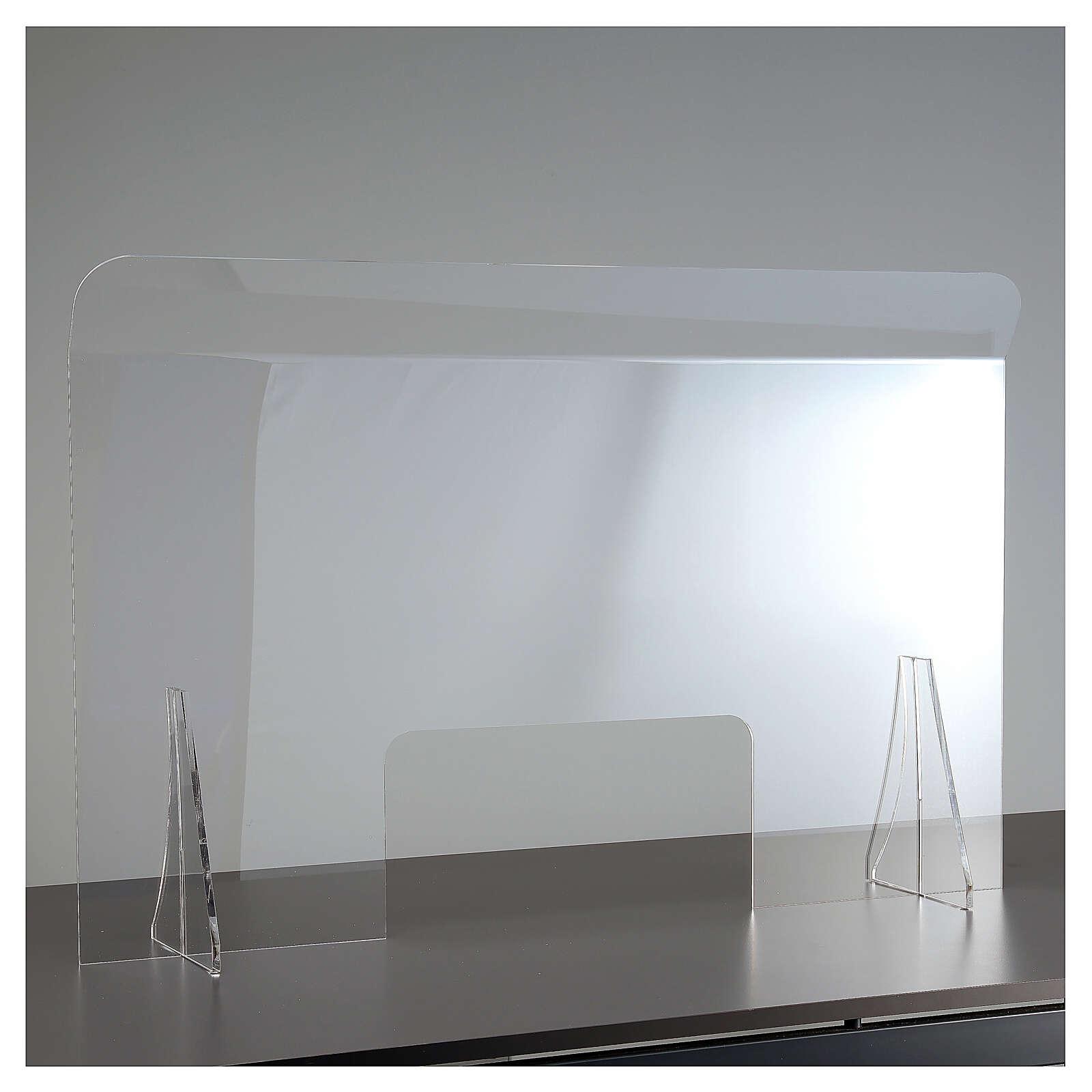 Protective plexiglass divider 80x100 cm window 30x50 cm 3