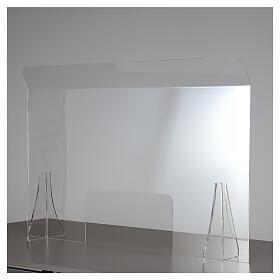 Protective plexiglass divider 80x100 cm window 30x50 cm s1
