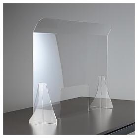 Protective plexiglass divider 80x100 cm window 30x50 cm s2