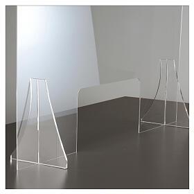 Protective plexiglass divider 80x100 cm window 30x50 cm s5